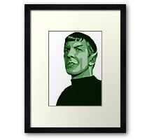 Spock with transparent background Star Trek TOS Framed Print