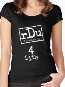 RDU (Durham) 4 Life White Women's Fitted Scoop T-Shirt