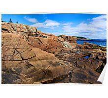 Rugged Maine Coast Acadia National Park Poster