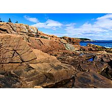 Rugged Maine Coast Acadia National Park Photographic Print