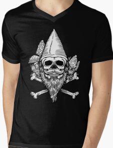 Gnome Skull Mens V-Neck T-Shirt