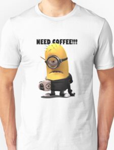 Funny Need Coffee Minion T-Shirt