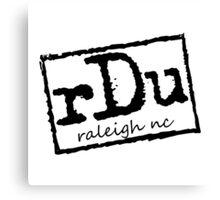 RDU (Raleigh) Black Canvas Print