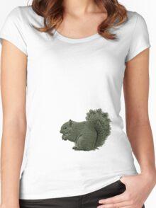 Nutty Squirrel Showdown Women's Fitted Scoop T-Shirt