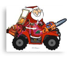 Santa with his goodies Canvas Print