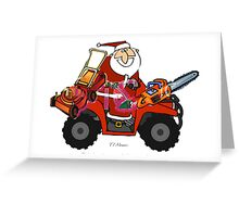 Santa with his goodies Greeting Card
