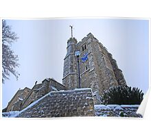 All Saints Tower In The Snow Poster