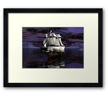 HMS Victory - Starry Night Framed Print