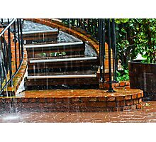 Rainy Day Staircase Carlsbad Photographic Print