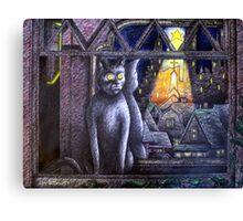 STARLIGHT STARBRIGHT CAT  Canvas Print