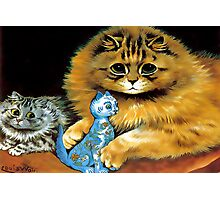 Vintage Doll Cat by Louis Wain Photographic Print
