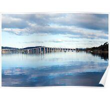 Tasman Bridge from Cornelian  Bay Poster