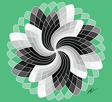 Black and White Flower by castelmi