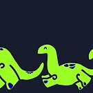 Lil Green Dino parade by Aakheperure