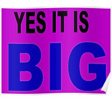 Yes it is big Poster