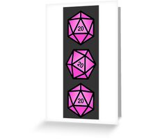 Pink d20 Greeting Card