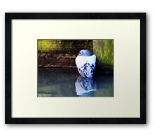 BLUE WILLOW Framed Print