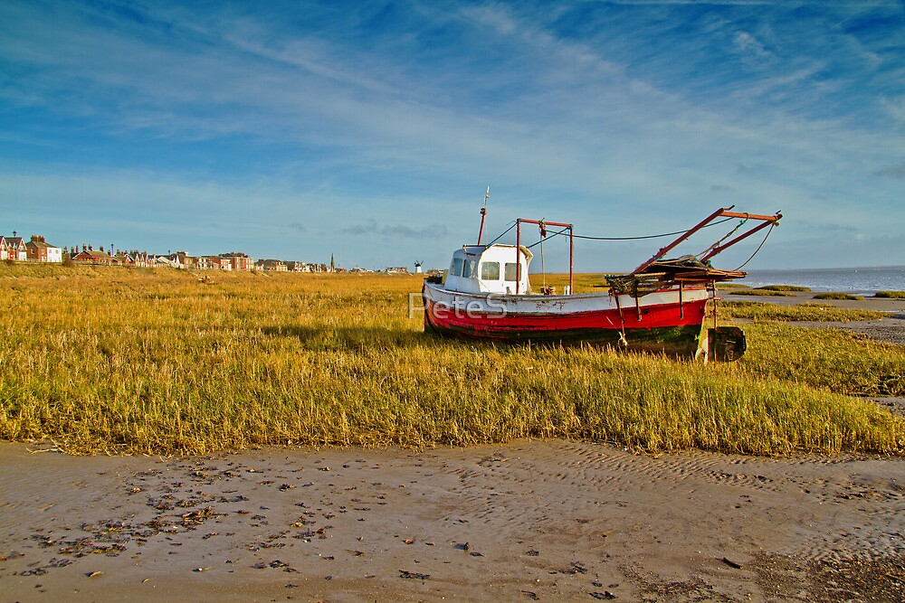 Boat on Lytham Beach   by Peter Stone