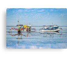 Sanur Boat Reflection Canvas Print