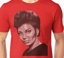 Uhura from TOS Star Trek (with transparent background) Unisex T-Shirt