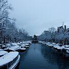 Snowy Amsterdam by moensel