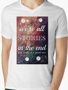 We're All Stories In The End Mens V-Neck T-Shirt