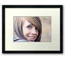 Lori Wells Photography-Model Tiffany in Cool Colors  Framed Print