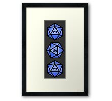 Blue d20 Framed Print