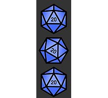 Blue d20 Photographic Print