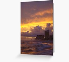Cloud City Fires- Panama City Beach, Fl Greeting Card