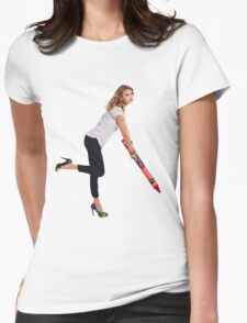 Crayon Taylor Swift Womens Fitted T-Shirt