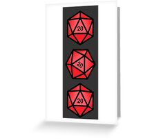 Red d20 Greeting Card