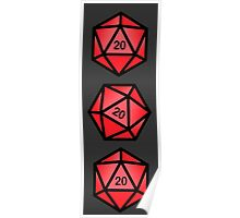 Red d20 Poster