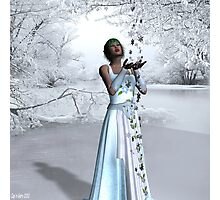 """""""With the coming of snow..."""" Photographic Print"""