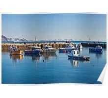Cold Blue Harbour ~ Lyme Regis Poster