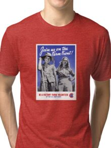 Be A Victory Farm Volunteer -- WWII Tri-blend T-Shirt