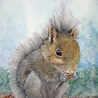Eastern Gray Squirrel by Loretta Luglio