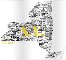 New York Black and Gold Poster