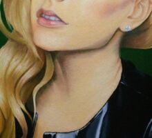 """Avril Lavigne"" Oil Painting  Sticker"