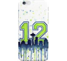 Seattle 12th Man Art for Seahwks iPhone Case/Skin