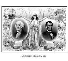 Presidents Washington and Lincoln by warishellstore
