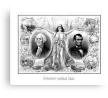 Presidents Washington and Lincoln Canvas Print