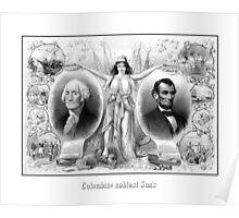 Presidents Washington and Lincoln Poster