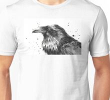 Raven Watercolor Unisex T-Shirt