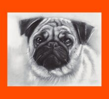 Pug Drawing Kids Tee