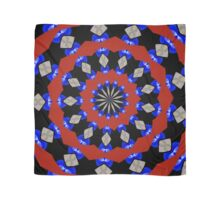 Red Gray Blue Kaleidoscope Scarf