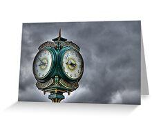 Peachland Clock Greeting Card