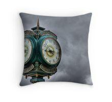 Peachland Clock Throw Pillow