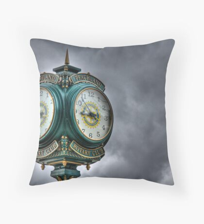Peachland Clock Throw Pillow