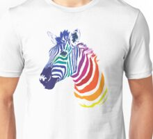 Rainbow Zebra Unisex T-Shirt